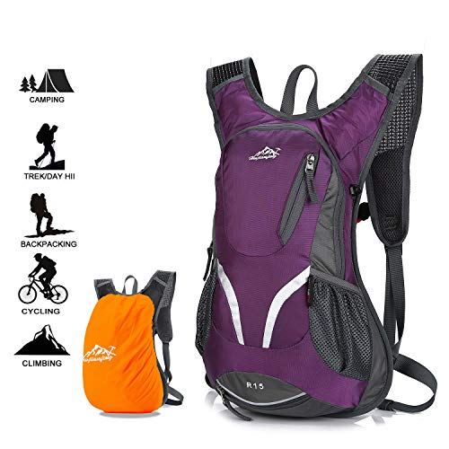 Black Lightweight Breathable Cycling Rucksack Outdoor Waterproof Running Daypack Bike Backpack for Climbing Camping Hiking yidenguk Hydration Backpack with 2L Hydration Pack Water Bladder