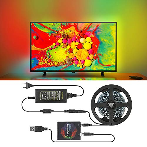LED TV Hintergrundbeleuchtung DIY Ambilight TV PC Traumbildschirm Adressierbarer LED Streifen USB LED Streifen HDTV Computer Monitor Hintergrundbeleuchtung LED Streifen Lichter Set (5M, 60LED)