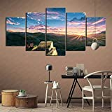 DIOPCCE 5 Pieces Canvas Home Decoration Painting(Cartoon