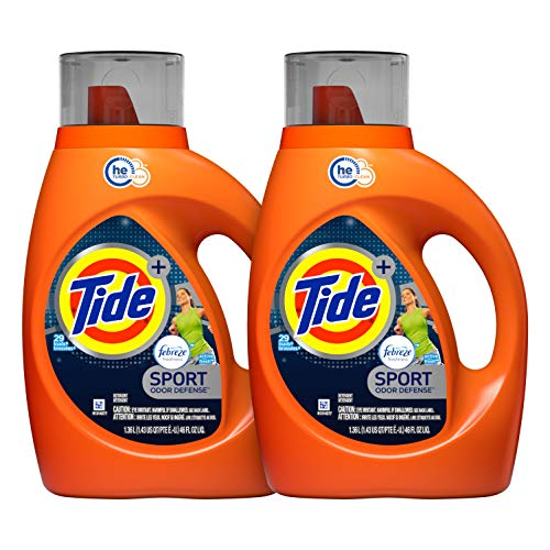 Tide Laundry Detergent Liquid Plus Febreze Sport Active Fresh Scent,...