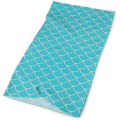 Mode écailles de sirène bleu sarcelle bandeau sans couture UPF 30 masque anti-humidité haute performance bandana masque cagoule