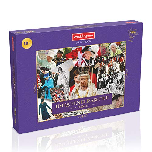 Winning Moves WM00956-EN1-6 HM Queen Elizabeth II Montage-Puzzle, 1000 Teile