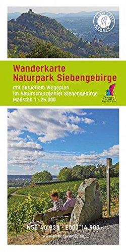 Wanderkarte Naturpark Siebengebirge: Mit aktuellen Wegeplan im Naturschutzgebiet Siebengebirge. Maßstab 1:25.000