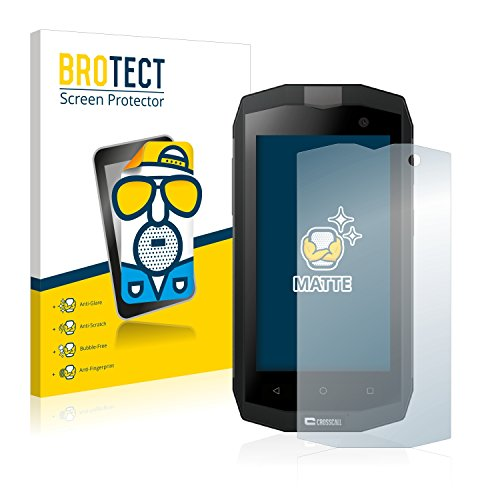 BROTECT 2X Entspiegelungs-Schutzfolie kompatibel mit Crosscall Trekker M1 / M1 Core Bildschirmschutz-Folie Matt, Anti-Reflex, Anti-Fingerprint