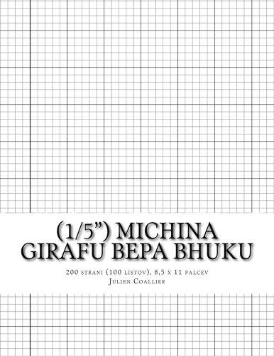 (1/5') Michina Girafu Bepa Bhuku: 200 mapeji (machira 100), 8.5 X 11 masendimita