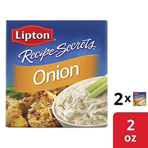 Lipton Recipe Secrets Soup and Dip Mix For Delicious Meals Onion Single-Serve Package for Easy Seasoning, 2 Envelopes, 2 Oz