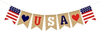 4th of July Banner USA Letter Banner Bunting America Independence Day Garland Bunting Banner Memorial Day Veterans Day Photo Prop Sign
