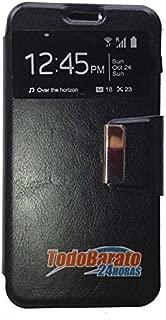 Todobarato24h Funda Libro Ventana Compatible con Huawei Ascend G Play Mini Negra