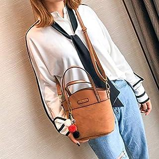 YKDY Shoulder Bag Leisure Fashion PU Leather Slant Shoulder Bag Handbag (Black) (Color : Brown)