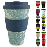 Morgenheld Vaso de bambu moderno | vaso para llevar | vaso para café con tapa de silicona de diseño moderno | capacidad total 400 ml