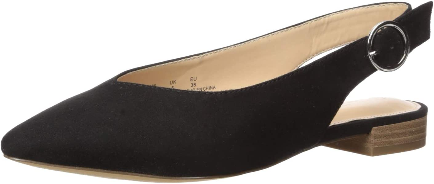 The Drop Women's Tara Pointed Toe Slingblack Flat Ballet