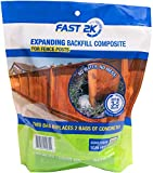 Fast 2K Fence Post Mix and Concrete Alternative and Replacement for Fence Post and Mail Box Post Installs. 2.2 lb Bag of Expanding Composite Footing Compound