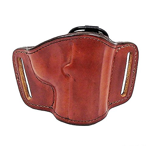 Bianchi 105 Minimalist, Suede Lined, Premium Leather Holster w/Elastic Strap & Leather Tab, Tan, Right Hand, SZ14, Colt 1911 Government, Commander, Officers