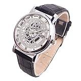 TWISFER Herren Lederbanduhren Hohle Analoge Quarzarmbanduhren Uhren Damen Mode Armband Uhr kreative Analog Quarz Angenehmer Armbanduhr