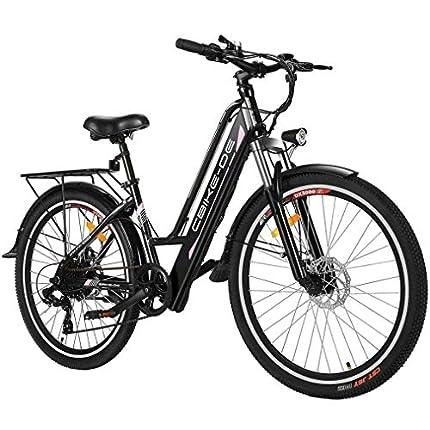 VIVI Bicicleta Eléctrica, Bicicleta de Montaña Eléctrica para Adultos 26 Pulgadas Bicicleta Eléctrica 250W Ebike, con 36V 8Ah Batería de Litio de, Engranajes De 21 Velocidades
