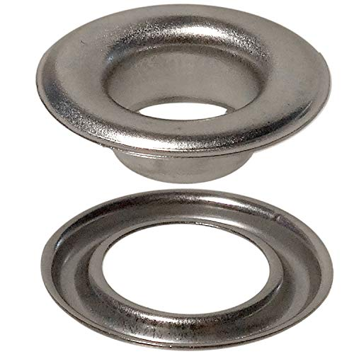 Stimpson ESPGW2SS500 Self-Piercing Grommet and Washer Stainless Steel 304 Reliable, Durable, Heavy-Duty #2 Set (500 Pieces of Each)