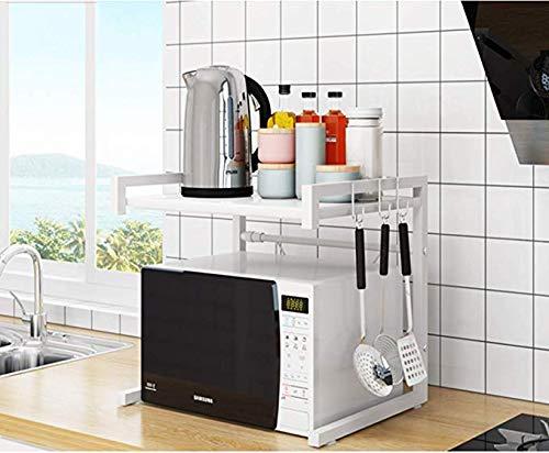 Best Deals! AFANG Microwave Oven Rack, Kitchen Countertop Storage Organizer,2-Tier Storage Shelf Ove...