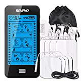 TENS Machine, RENPHO TENS Unit Muscle Stimulator with Touchscreen, Rechargeable Electronic Pulse Massager