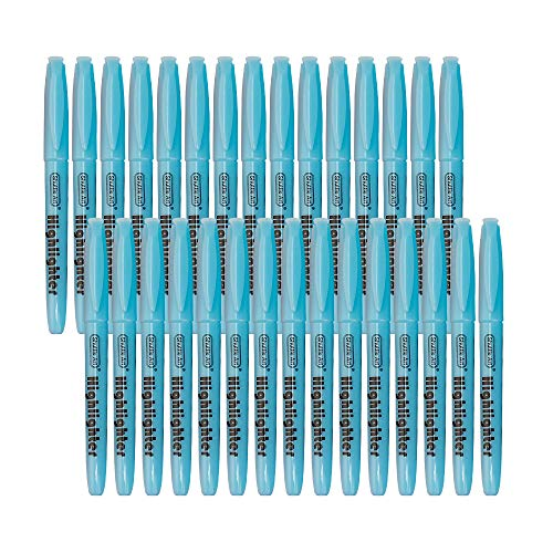 Highlighters, Shuttle Art 30 Pack Blue Highlighters Bright Colors, Chisel Tip Dry-Quickly Non-Toxic Highlighter markers for Adults Kids Highlighting in the Home School Office