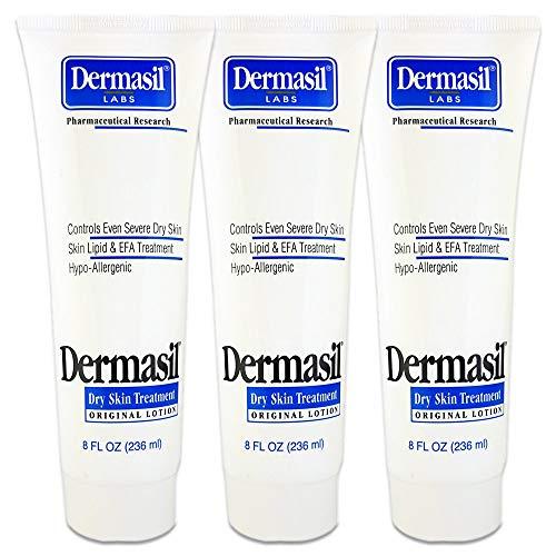 Dermasil Skin Treatment 8oz Tube (Moisturizing Body Original, 3 Pack)