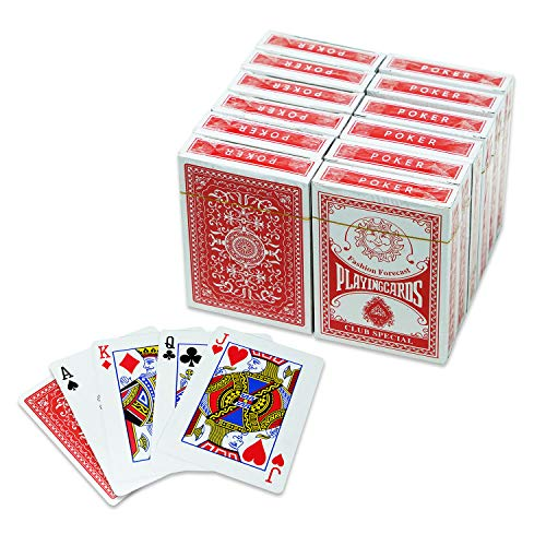 Military Gift Shop Poker Size Standard Index Playing Cards, 12 Decks of Cards, for Euchre, Blackjack, Pinochle, Canasta Card Game