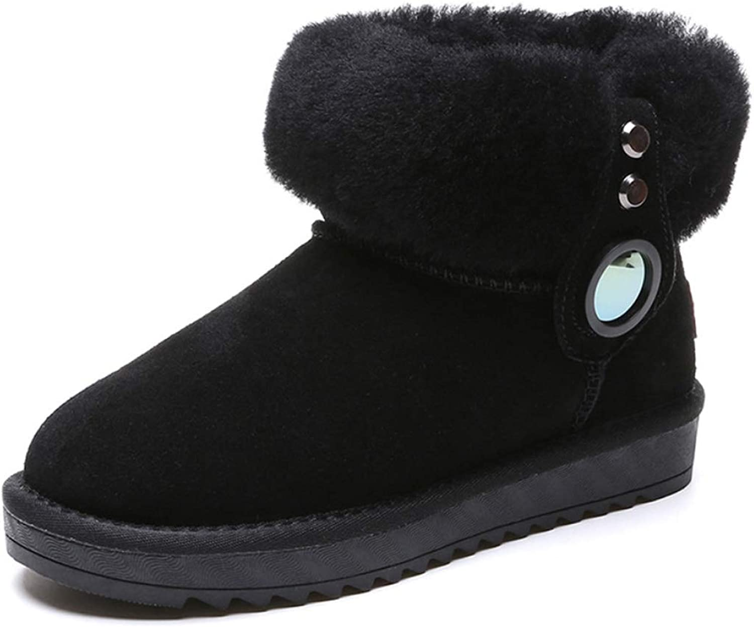Boots for Women Cute Flat Heel Snow Boots with Non-Slip Ankle Boots shoes for Winter