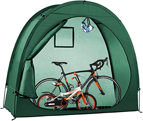 NANDAN Bike Tent Bicycle Storage Shed,190T Multifunctional Camping Storage Outdoor Waterproof Sun Shade Window Design for Storage Fishing, Insect Control Space Saving (78x32x65 Inches)