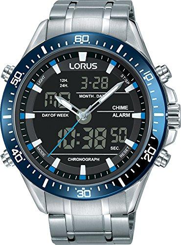 Lorus Herren Analog-Digital Quarz Uhr mit Edelstahl Armband RW633AX9