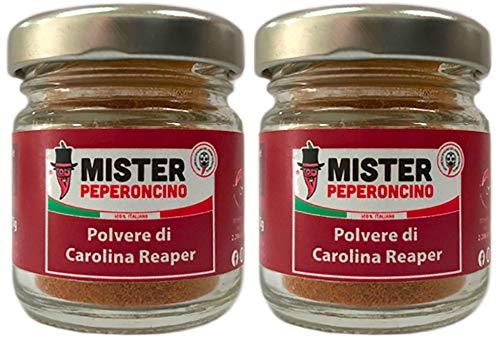 Carolina Reaper - Polvere piccante (15 gr x2) - Il peperoncino più piccante del mondo - Mister Peperoncino