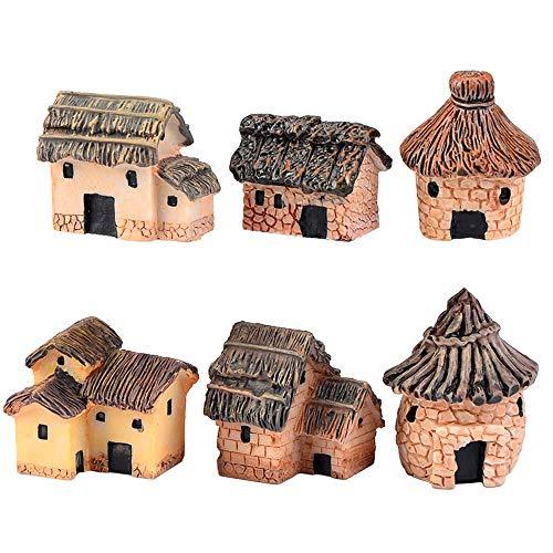 ZJW 6 Piezas Kit de Adornos de Hadas Miniatura, Accesorios de jardín para Exteriores, Patio, Micro Paisaje, calcomanías de Bonsai de Patio