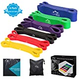 JDDZ SPORTS Pull up Resistance and Assist Bands, Workout Bands | Powerlifting Bands,Mobility Stretch Bands,Exercise Band for Body Fitness Training,Chin Ups, Stretch (Set of 6)