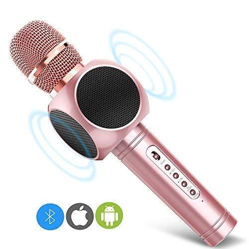 Microphone Karaoke, MODAR Portable Microphone Bluetooth and Double Speaker...