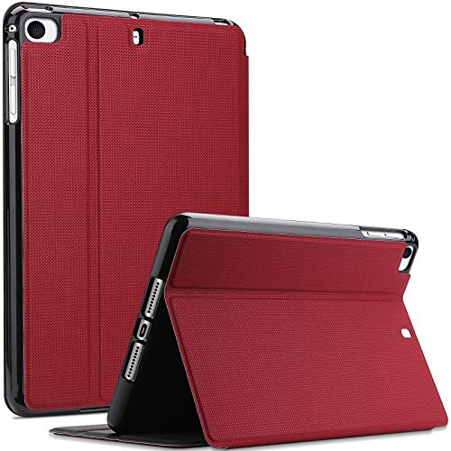 ProCase for iPad Mini 1/2 / 3/4 / 5 Case, Shockproof Lightweight Slim Stand Protective Case Folio Cover -Red