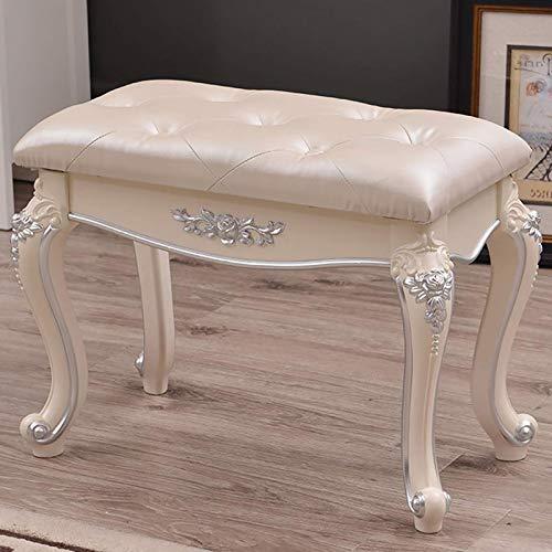 YZJJ Vanity Hocker Stuhl, gepolsterter gepolsterter Make-up Sitz, Bequeme Klavierbank Einfache Montage Moderner Stuhl, rückenfreier Vanity Hocker für Zimmer oder Schlafzimmer