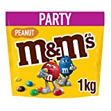 M&M's Peanut Chocolate Party Bulk Bag, Halloween Chocolate, 1 kg