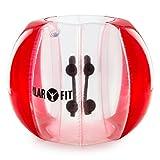 KLAR FIT Bubball AR Pelota de Burbuja, Bola Hinchable, Transparente, Rojo