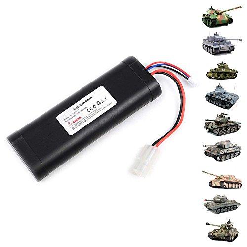 HSP Himoto Original Upgrade Tunning 7.4V 1800mAh Li-Ionen Akku für alle Heng Long Panzer Modelle, Tiger I, Bulldog, Panther, Leopard, Pershing, Königstiger, usw.. Henglong Ersatzteil, Modellbau, Neu