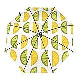 Diseño automático ligero compacto portátil y amarillo del viaje del limón del verde y amarillo y alta resistencia al viento