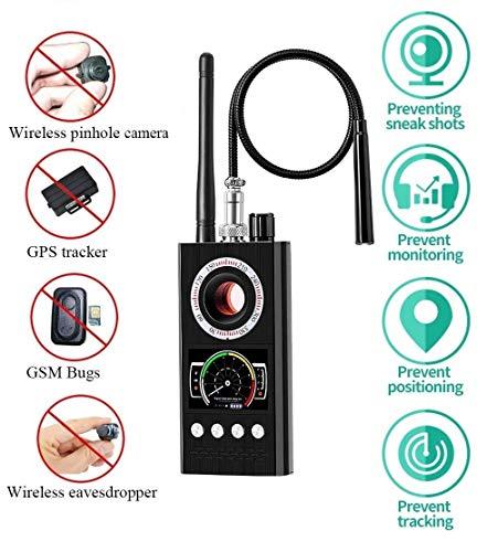 Anti Spy RF-Signal-Detektor Upgraded Wanzen-Detektor Auto Alarm GPS Tracker Kamera-Sucher Scanner versteckter Kamera-Detektor Radio Frequency Detector Finder