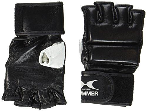 Hammer 95410 Guanti da Boxe in Pelle Premium MMA, Nero (Schwarz), S/M