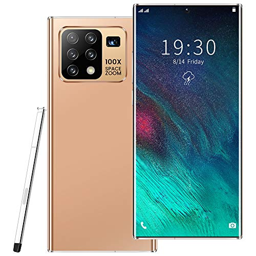 Oceanindw Mobile Phone, 5000mAh Battery, 6.8 inch Dewdrop Full Screen, SIM Free Android Mobile Phone, Front Camera 16MP + Rear Camera 32MP Fingerprint, Face ID Smartphone