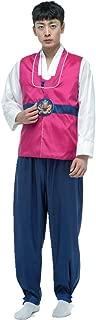 Mens Boys Korean Traditional Court Dress Costume Hanbok Cosplay 3pcs Sets