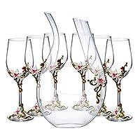 クリスマスギフト高級ワイングラスクリスタルワイングラスを無鉛七宝エナメル地味なワインデカンタ