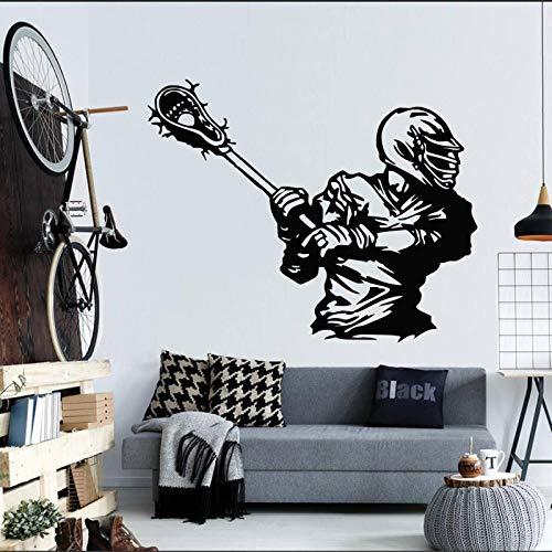 yaofale Wandaufkleber Amerikanischer Hockeyspieler Sportspielball Vinylaufkleber Hauptdekoration Wohnzimmer Wandbild Wandtattoo