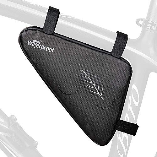 MINGZE Bolso de Bicicleta, Triangle Bolsa Almacenamiento Frontal de Tubo para Cuadro de Bicicleta Impermeable Alforjas Delantera Triangulo Bolsa del Tubo Frontal Titular Triángulo Equipos Ciclismo