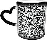 Tazze da caffè Leopard Seamless Pattern Design Background Sensibile al calore Cambia colore Tazza nel cielo Tazza in ceramica Regali personalizzati per gli amanti della famiglia Am