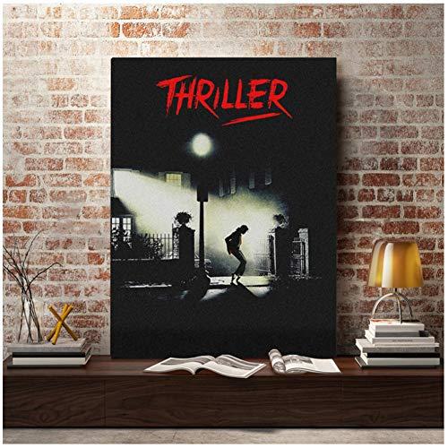 dubdubd Pôster Michael Jackson Thriller The Exorcist Wall Art Poster Impressão de pintura sala de estar Decoração para casa - 50 x 71 cm Sem moldura 1 peça