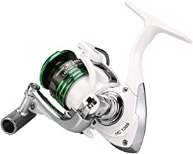 Yeahmart Spinning Reels with 12+1 Ball Bearing Left/Right Interchangeable Handle, Durable Rust-Resistant Spinning Reels 5.1:1 Speed Ratio for Kayak Boat Fishing in Saltwater and Freshwater