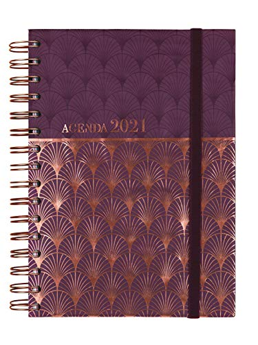 Finocam - Agenda 2021 1 Día página Espiral You Mosaic Español