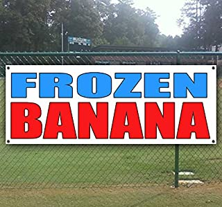Frozen Banana 13 oz Heavy Duty Vinyl Banner Sign with Metal Grommets, New, Store, Advertising, Flag, (Many Sizes Available)